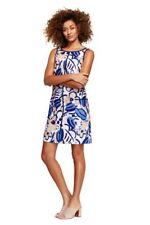 Orange Sz 6,12 NWT LANDS END $165 Italy-Woven Sleeveless Pleat/_Front Dress