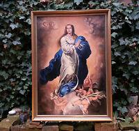 Madonna Immaculata: Charmantes altes Ölgemälde v. B. EISER 1946  TOP Zustand