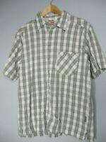 Levi's Men's XL 100% cotton Green & White Short Sleeve Button Front Shirt