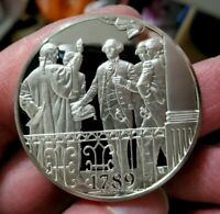Silver Medal, 1789 President Washington Takes Office, 1.05 Troy Oz. Sterling