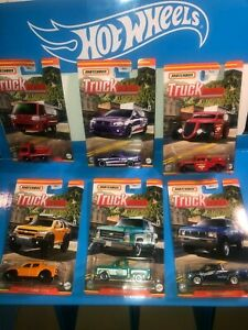 2021 TRUCK SERIES MATCHBOX DIECAST,SET OF 6, NISSAN,CHEVY,FORD,SAMBAR AND MORE!