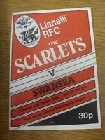 11/10/1986 Rugby Union Programme: Llanelli v Swansea (creased). Footy Progs/Bobf