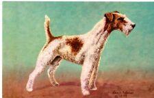 Wire-Haired Fox Terrier Dog By Artist Lewis H. Larsen, Unposted- Postcard