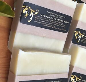 Organic Soap. Patchouli and Sandalwood.  Pure Essential Oils.