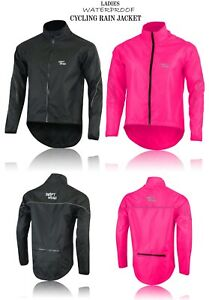 ladies Waterproof Cycling Jacket Breathable Lightweight High Visibility Jacket