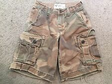 AMERICAN EAGLE OUTFITTERS Distressed Green Camo Cargo Casual Shorts mens 26
