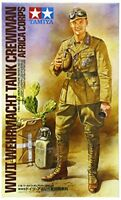 Tamiya 1/16 World Figure Shirisu No.10 German Army Africa Corps tank crew Plasti