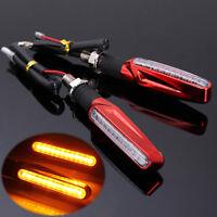 Paire 12V 12 LED Clignotant Éclairage Lampe Turn Signal Rouge Moto Scooter Quad