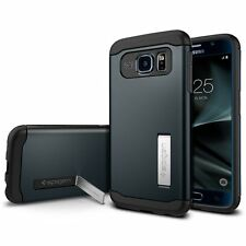 Spigen Samsung Galaxy S7 Slim Armor Shockproof Protective Case TPU Cover Metal Slate