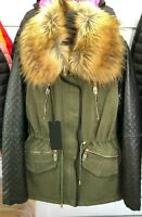 Women's Fleece Fur Lined Parka Coat Winter Warm Hooded Jacket Outwear Overcoat