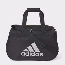 adidas Diablo Small Duffel  Gym Bag  Black - Gray Logo