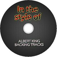 ALBERT KING IN THE STYLE OF GUITAR BACKING TRACKS CD BEST OF BLUES MUSIC