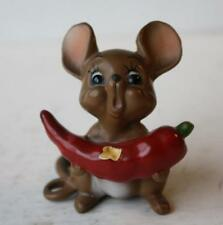 Josef Originals Hot Stuff Chili Pepper Mouse Figure From The Mouse Village Serie