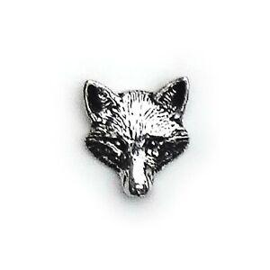 English Pewter, FOX Head, Lapel Pin Badge / Tie Pin Badge (A72)