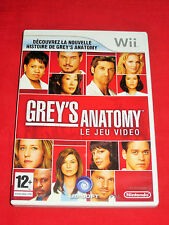 GREY'S ANATOMY - THE VIDEO GAME - Jeu WII/WII U - Complet