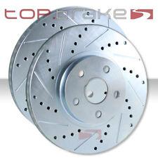 TOPBRAKES Drill Slot Brake Rotors F/&R POSI QUIET Ceramic Pads TBP16041