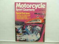 Fall 1971 Motorcycle Sport Quarterly Book Magazine 750 Triumph Twin Hawk B98