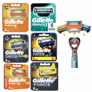 Gillette Fusion 5 Proglide Power Blades Packs Of 8 ,4 and 2 Genuine UK Stock