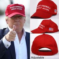 Red/Black Make America Great Again Donald Trump Republican Adjustable Cap Hat EN