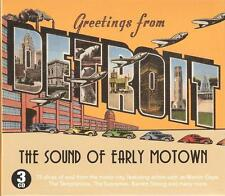 GREETINGS FROM DETROIT THE SOUND OF EARLY MOTOWN - 3 CD BOX SET
