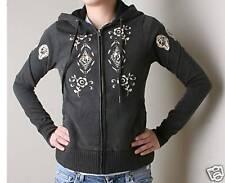 Paul Frank Mod Floral Fullzip Hoodie (L) Black
