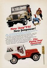 1966 Kaiser JEEP PRINT AD Flying Universal & Tuxedo Park Mark IV 4 Wheel Drive