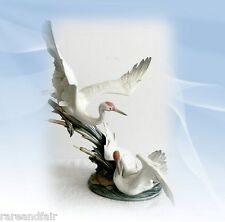 "Lladro large porcelain figurine ""Cranes"" - number 1456 - FREE SHIPPING"