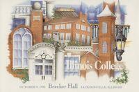 #UX172-C1 19c Beecher Hall Postal Card First Day Ceremony  Program
