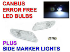 DEPO 01-07 MERCEDES W203 C280 CLEAR BUMPER SIDE MARKER LIGHTS + CANBUS LED BULBS