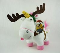 Peluche 25cm Fluffy Unicornio Reno Navidad Original Despreciable Me Minions New