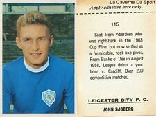 115 JOHN SJOBERG # LEICESTER CITY.FC STICKER FKS WONDERFUL WORLD OF SOCCER 1969