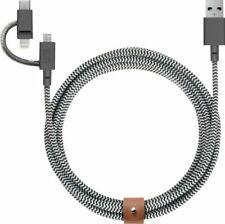 Native Union 6.5' USB Type A-to-Micro-USB/Lightning/USB Type C Cable - Zebra