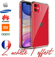 COQUE ANTICHOC SILICONE ETUI HOUSSE RENFORCÉE Iphone huawei Samsung Xiaomi Oppo