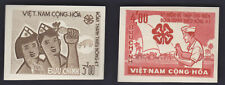 VIETNAM SOUTH 1965 Color trials x 2 Shiny White Gum NHVF