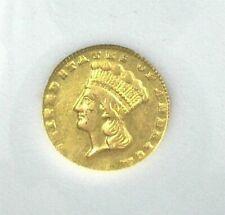 1860-D INDIAN PRINCESS $1 GOLD UNCIRCULATED EXTRA RARE! CONFEDERATE GOLD!!!