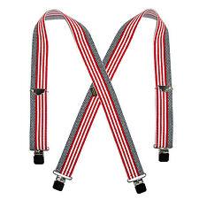 New Welch Men's Elastic American Flag Clip End Suspenders