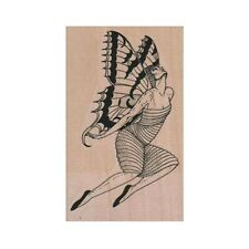 NEW Butterfly Lady Flying RUBBER STAMP, Butterfly Stamp, Fantasy Stamp, Fairy