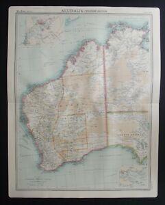 Antique Map: Australia - Western Section by John Bartholomew, Times Atlas, 1920