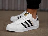 NEW Adidas Originals Men's Superstar Shoes Sneakers White Black BB1172