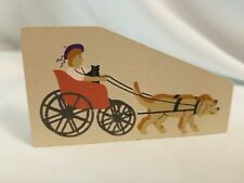 Cats Meow Village Carriage Buggy Drawn by Dogs