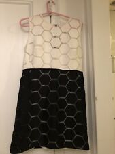 Milly Black And White Dress Size 8 NWT
