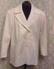 ESCADA Women Europe 44 US 14 16 Cream Ivory Beige Blazer Suit Jacket $2500+ Val