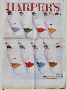 Vintage Herbert Bayer 'Lips' poster 1970s reprint 40s graphic design Bauhaus