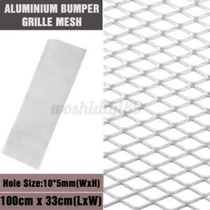 Aluminium Car Bumper Grille Grill Mesh Net Vent 10x5mm 100x33cm Silve