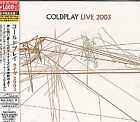 COLDPLAY LIVE 2003 ENHANCED CD NEW Japanese issue with OBI
