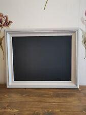 Handmade Wooden Blackboard With A Rustic Hessian Chalk Paint Frame.
