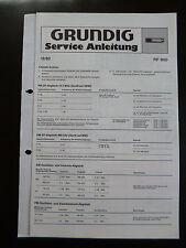 ORIGINALI service manual GRUNDIG RF 800