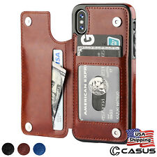 Leather Wallet Magnetic Flip Cover Thin Slim Case For iPhone 11 Pro XS MAX XR