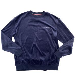 Tommy Hilfiger Men's Modern Essentials Velour Sleepwear Pullover Sweatshirt XL