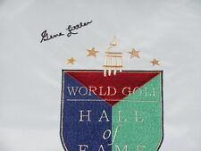GENE LITTLER AUTOGRAPHED WORLD HALL OF FAME GOLF FLAG (1990 HOF) - W/ COA!
